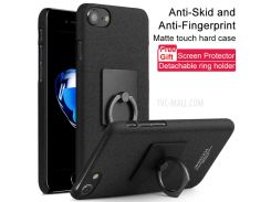 IMAK ковбой кольцо стоять жесткий чехол для iPhone 8 / 7 4.7 дюймов + пленка - матовое стекло чернить