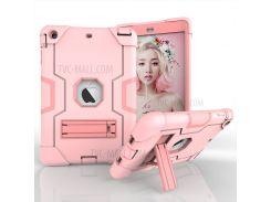 Прохладный PC + TPU Гибридная Оболочка Корпуса Телефона С Подставкой Для Ipad Mini 3/2/1 - Розовый