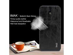 IMAK Bellearti Назад Наклейка Пленочный Кожаный Протектор Для Галактики Samsung J7 (2017) Eu / Asia Версия / J7 Pro (2017) - Черный