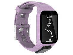 Мягкий Силиконовый Наручные Часы Группы Замена Для TomTom 2/3 - Пурпурный