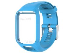For Tomtom 2/3 Soft Silicone Watch Band with Pin Buckle - Baby Blue