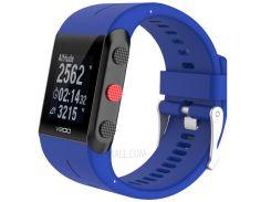 Мягкие Наручные Часы Замена Силиконовый Ремешок Для Polar Устройство V800 GPS Спортивные Часы - синий