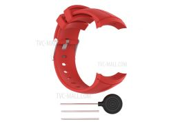 Soft Silicone Watch Wrist Band for Suunto Spartan Ultra with Spring Bars and Tool - Red