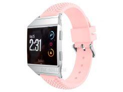 Для Fitbit Ионной Прохладной Шины, Регулируемый Мягкий Силиконовый Браслет Для Наручных Часов - Розовый
