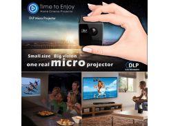 Миниатюрный Портативный Проектор DLP 1080P Для Проектора UNIC P1 С Разъемом Для Аудио / 3,5 Мм Аудиокарта