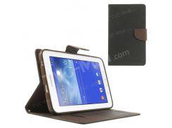 Ртутный GOOSPERY Фантастический Дневник Кожаный Чехол Для Samsung Galaxy Tab 3 7.0 Lite T110 T111 - Коричневый / Черный