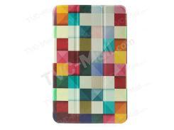 Трижды Складной Кожаный Чехол Для Samsung Galaxy Tab E 9.6 T560 - Красочные Треугольник Шаблон