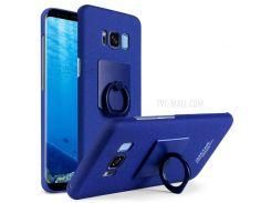 Сделать Imak Ковбой Оболочки Кольца Сжатия Стента Штейновый ПК Случай Мобильного Телефона Для Samsung Галактики С8 G950 - синий