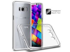 IMAK Очистить Крышку Мягкого Телефона TPU + Взрывозащитную Пленку TPU Для Галактики Samsung S8 SM-G950 - Прозрачный
