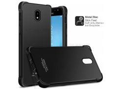 IMAK Шелковистая Анти-капля TPU Мобильный Чехол + Пленка Для Экрана Для Галактики Samsung J5 (2017) EU Версия / J5 Pro - Металлический Черный