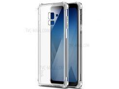 IMAK Шелковистая Противоскользящая TPU Мягкая Задняя Оболочка + Экранная Защитная Пленка Для Галактики Samsung A8 + (2018) - Прозрачный
