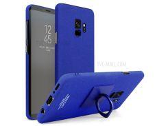IMAK Ковбойская Пластиковая Оболочка С Кольцевой Подставкой + Экранная Пленка Для Галактики Samsung S9 - Синий