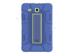 Противоударный Гибридный Защитный Корпус TPU + PC С Подставкой Для Вкладки Галактики Samsung E 9.6 T560 - Синий / Зеленый