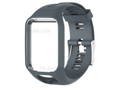 Гибкий Силиконовый Наручные Часы Группы Замена Для TomTom 2/3 - Серый