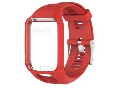 Мягкие Силиконовые Наручные Часы Ремешок Ремешок Для TomTom 2/3 - красный