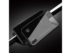 JOYROOM Отделяемое Закаленное Стекло + Drop-proof TPU Гибридный Задний Чехол Для Iphone X (десять) - Черный