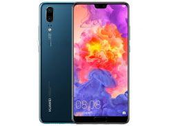 HUAWEI P20 (EML-AL00) 5.8-дюймовый Кирин 970 Android 8.1 Октановое Ядро 4G Смартфон 6 ГБ + 64 ГБ - Синий