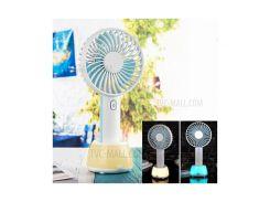 2000mah Мини-портативный USB-вентилятор Охлаждения 3 Регулируемые Скорости Портативный Мини-вентилятор С Лампой Атмосферы - Голубые