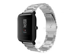 Твердая Нержавеющая Сталь Часовая Группа Замена Запчасти Для Huami Amazfit Smart Watch Молодежная Версия - Серебряный