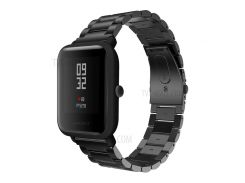 Ремешок Из Нержавеющей Стали Из Нержавеющей Стали Заменяет Деталь Для Молодежного Издания Huami Amazfit Smart Watch - Черный