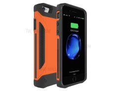 Портативный Ударопрочный Корпус Зарядного Устройства Внешний Батарейный Блок Питания Для Iphone 7/6 / 6s - Оранжевый