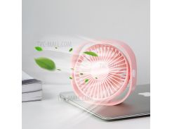 BASEUS Проводной USB-охлаждающий Вентилятор 3 Регулируемые Скорости Настольный Мини-вентилятор - Розовый