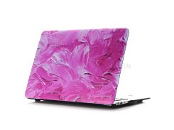 Oil Painting Pattern Hard PC Mobile Phone Cover for Macbook Air 13.3 Inch (A1369/A1466) - Rose Color Paint Background