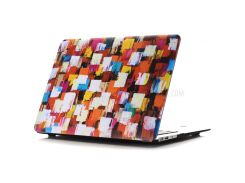 Oil Painting Pattern Hard PC Protection Casing Cover for Macbook Air 13.3 Inch (A1369/A1466) - Colorized Square