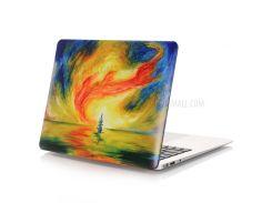Картина маслом Pattern Жесткий пластиковый чехол для Macbook Air 13,3 дюйма(A1369/A1466) - Абстрактный морской пейзаж