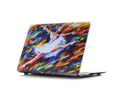Картина маслом Pattern Жесткий ПК сотовый телефон Shell для Macbook Air 13,3 дюйма(A1369/A1466) - дрожание девочка