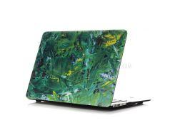 Картина маслом Pattern Жесткий PC сотовый телефон чехол для Macbook Air 13,3 дюйма(A1369/A1466) - Зеленый цвет краски фон