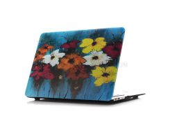 Картина маслом Pattern Жесткий корпус телефона для Macbook Air 13,3 дюйма(A1369/A1466) - Красочные Блоссом