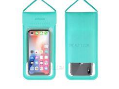 JOYROOM CY701 TPU + PU Кожаный Спортивный Чехол Для Мобильного Телефона Водонепроницаемый Чехол Для Смартфона С Талрепом Для Iphone Samsung Huawei И Т. Д. - Синий