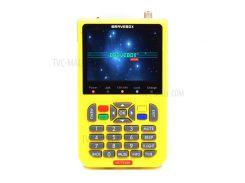 IBRAVEBOX V8 Finder 3,5-дюймовый ЖК-дисплей Full HD DVB-S2 Для Спутникового Поиска - Желтый / Американская Вилка