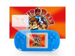 HKB-503 2-дюймовый Мини-цветной Экран Ретро-игровой Консоли Встроенный 268 Игр - Голубые