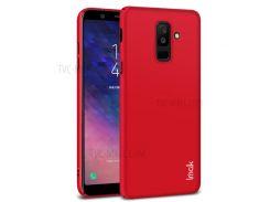 IMAK Jazz Skin Чувствует Себя Жесткой Крышкой Мобильного Телефона Для Мобильного Телефона + Пленкой Для Экрана Для Галактики Samsung A6 + (2018) - Красный