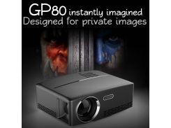 GP80 Портативный проектор 1800 люмен для домашнего кинотеатра HD Мультимедийный проектор - EU Plug