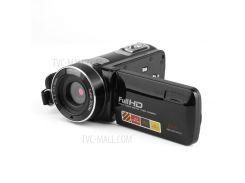 Ночное Видение FHD 3,0-дюймовый ЖК-экран 18X 24-мегапиксельная Видеокамера Для Видеокамеры - Черный / Американская Вилка