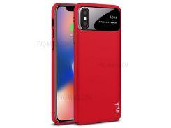 IMAK-джаз-линза Для Кожи, Жесткая ПК-оболочка + Пленка Для Экрана Для Iphone X - Красный