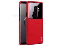 IMAK-джаз-линза Для Кожи С Жестким Корпусом Для ПК Samsung Galaxy S9 + SM-G965 - Красный