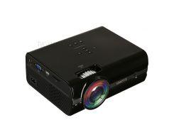UHAPPY U45 800x480 LED HD Мини-проектор С Разъемами TV / AV / VGA / HDMI / TF / USB - Черный