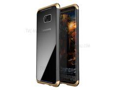 LUPHIE Для Галактики Samsung S8 G950 С Закаленным Закаленным Стеклом + ПК + Металлическая Гибридная Оболочка Телефона - Золото