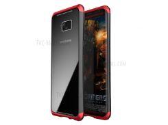 LUPHIE Для Галактики Samsung S8 G950 С Закаленным Закаленным Стеклом + Металлическая Гибридная Крышка Для ПК + - Красный