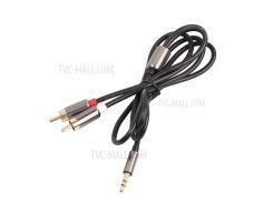 3,5 Мм До 2 Аудиокабелей RCA 1 М Разъем Для Подключения Разъема AUX К Гнезду Для Кабеля