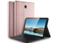 Съемная Клавиатура С Кожаной Подставкой Для Клавиатуры Bluetooth Для Samsung Galaxy Tab S4 10.5 - Розовое Золото