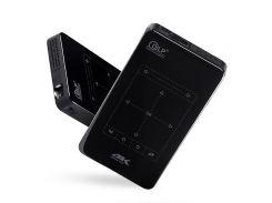P09 1GB + 8GB Портативный Кинотеатр Android 6.0 Bluetooth 4.0 HDMI 4K Проектор DLP D7 - Соединенное Гнездо