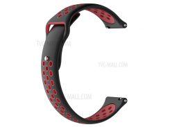 Двухтональный Силиконовый Полый Ремешок Для Часов Huami Amazfit Watch 2/1 - Черный / Красный