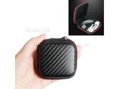 Текстура Углеродного Волокна USB-кабель Для Наушников С Сумкой Для Хранения Молнии