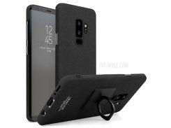 IMAK Ковбойская Пластиковая Задняя Крышка С Кольцевой Подставкой Для Галактики Samsung S9 + SM-G965 - Матовый Черный