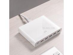 Xiaomi CDQ06ZM 5 X USB-A 1 X USB-C 60W QC3.0 Быстрое Зарядное Устройство - Американская Вилка